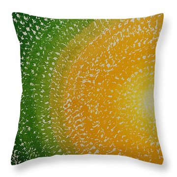 Spring Sun Original Painting Throw Pillow