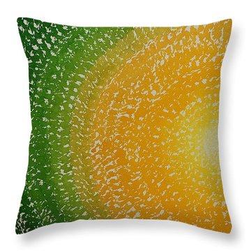 Spring Sun Original Painting Throw Pillow by Sol Luckman