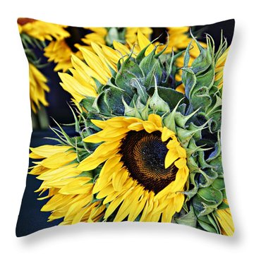 Spring Sunflowers Throw Pillow