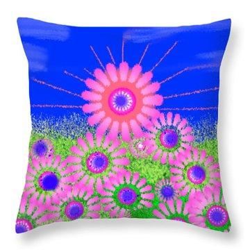 Throw Pillow featuring the digital art Spring Sunrise by Dr Loifer Vladimir