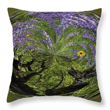 Spring Swirl Throw Pillow by Jean Noren