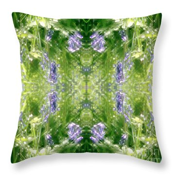 Spring Symmetry Throw Pillow