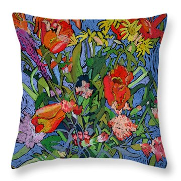 Spring Symphony Throw Pillow by Frances Treanor