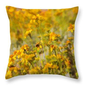 Spring Throw Pillow by Tammy Espino