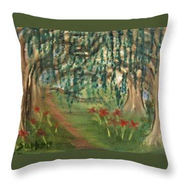 Spring Trail Throw Pillow