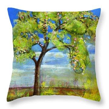 Spring Tree Art Throw Pillow