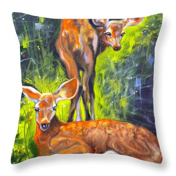Spring Twins 1 Throw Pillow