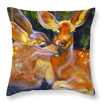Spring Twins 2 Throw Pillow