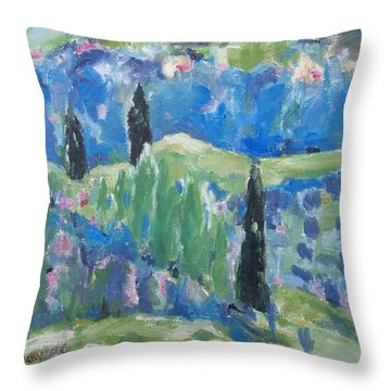 Throw Pillow featuring the painting Spring Valley 2 by Becky Kim