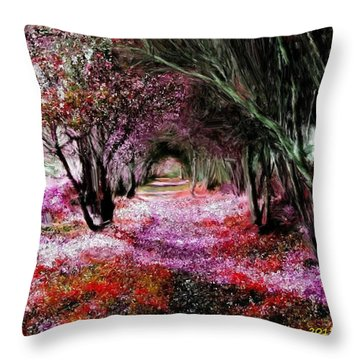 Spring Walk In The Park Throw Pillow by Bruce Nutting