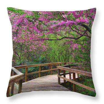 Spring Walk Throw Pillow