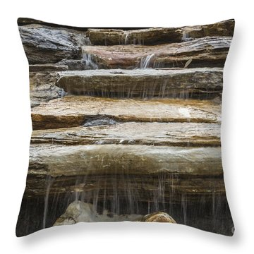 Spring Waterfall 2 Throw Pillow