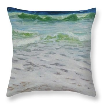 Spring Wave Throw Pillow