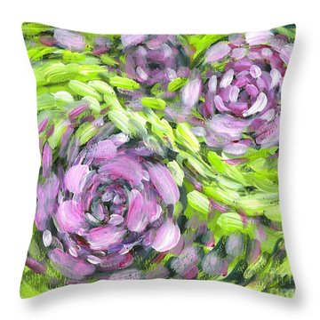 Spring Whirl Throw Pillow
