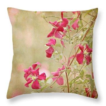 Spring Whisper Throw Pillow by Kim Hojnacki