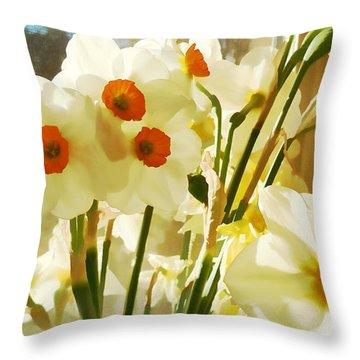 Spring Windowsill Throw Pillow