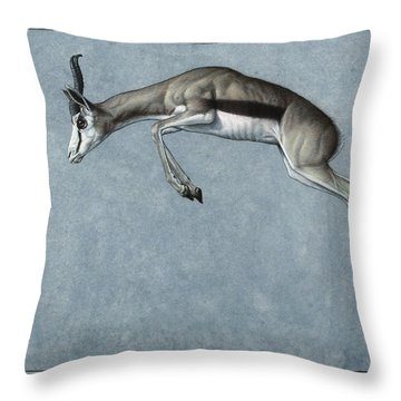 Springbok Throw Pillow
