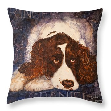 Springer Spaniel - Best Friend Throw Pillow