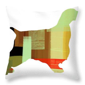 Springer Spaniel  Throw Pillow by Naxart Studio
