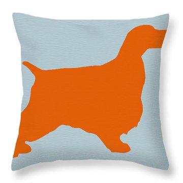 Springer Spaniel Orange Throw Pillow by Naxart Studio