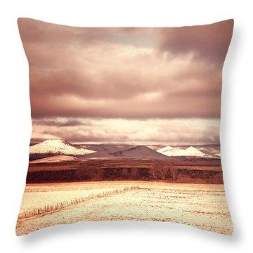 Springerville Arizona View Throw Pillow by Donna Greene