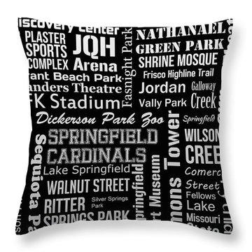 Springfield Throw Pillow by Ryan Burton