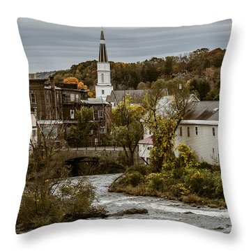Springfield Vermont After A Storm Throw Pillow