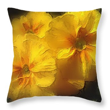 Springflower 5 Throw Pillow