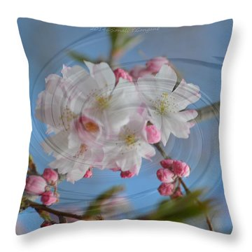 Springing Blossoms Throw Pillow by Sonali Gangane