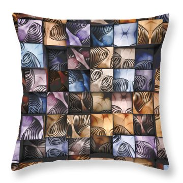Springs And Squares Throw Pillow