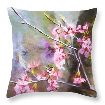 Spring's Awaited Color Throw Pillow
