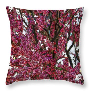 Spring's Bounty Throw Pillow