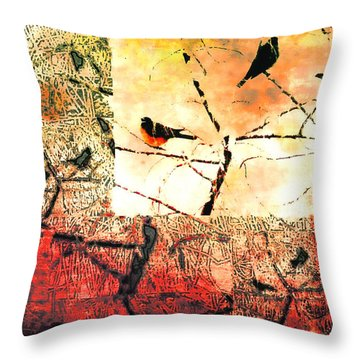 Spring's Coming Throw Pillow