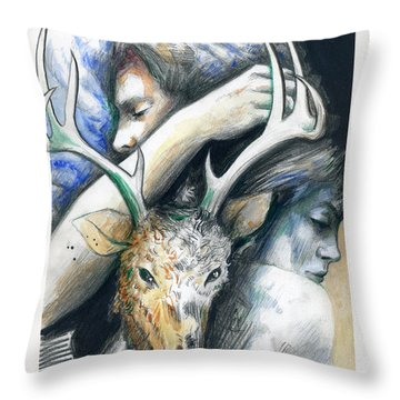 Springs Eternal Love Affair With The Ice Prince Throw Pillow