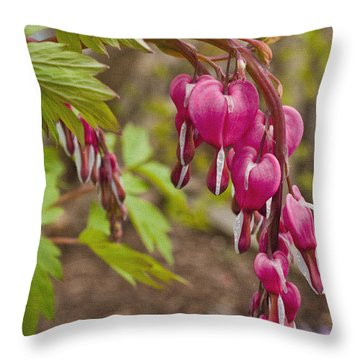 Spring's First Love Throw Pillow by Sandi Mikuse