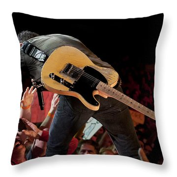Springsteen In Charlotte Throw Pillow