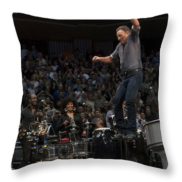 Springsteen In Motion Throw Pillow