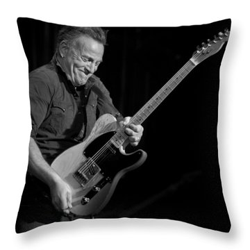 Springsteen Shreds Bw Throw Pillow