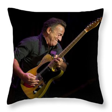 Springsteen Shreds Throw Pillow