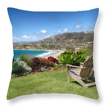 Springtime At Salt Creek Beach Throw Pillow