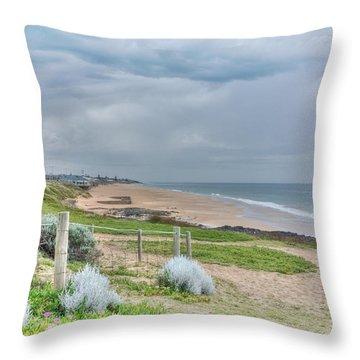 Springtime At The Beach Throw Pillow by Elaine Teague