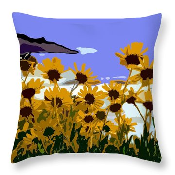 Throw Pillow featuring the photograph Springtime At The Coast  by Everette McMahan jr
