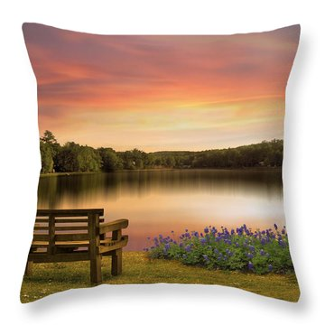 Springtime At The Lake Throw Pillow