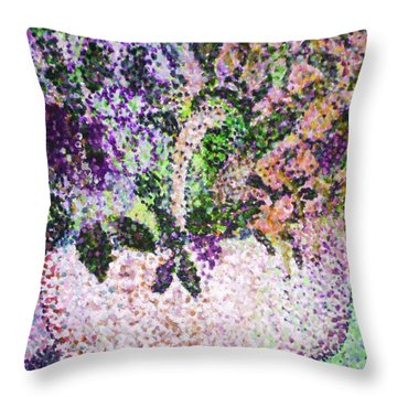 Springtime Basket Throw Pillow