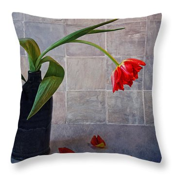 Springtime Blues Throw Pillow by Claudia Moeckel