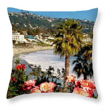 Springtime In Laguna Throw Pillow
