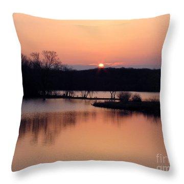 Springtime In Monee Throw Pillow by Cedric Hampton