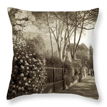 Springtime In Montreux Throw Pillow by Colleen Williams