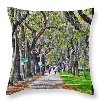 Springtime In Savannah Throw Pillow