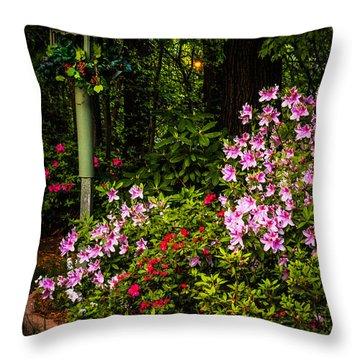 Springtime In The Garden  Throw Pillow